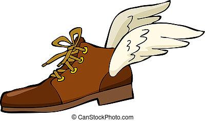 sko, vinger
