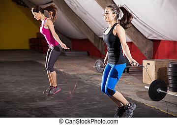 skoczcie sznur, trening