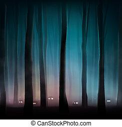 skog, odjur