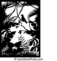 skog, silhuett
