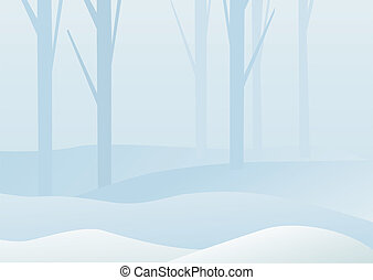 skog, vinter
