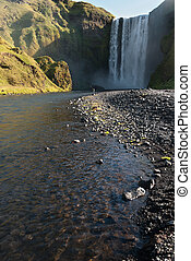 Skogafoss waterfall , Iceland