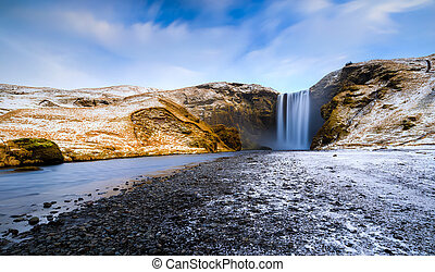 Skogafoss, waterfall, Skogar, South Region, Iceland