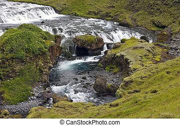 Skogar Waterfall - A cascaded waterfal near the famous...