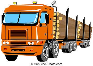 skogsavverkning transportera