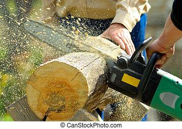 skogshuggare, arbete