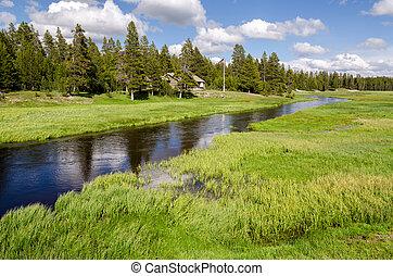 Skogvaktare,  Yellowstone, Hus