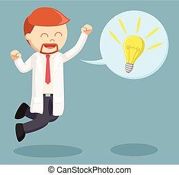 skok, callout, naukowiec, idea