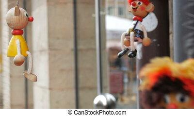 skok, niemcy, marionetka, dookoła, zawiązywać, nuremberg, ...