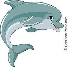 skokowy, delfin