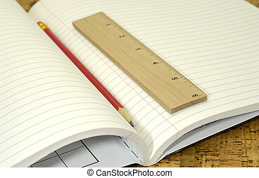 skola, anteckningsbok