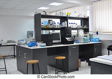 skola, laboratorium