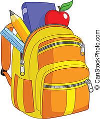 skola, ryggsäck