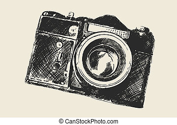 skole, gamle, fotografi