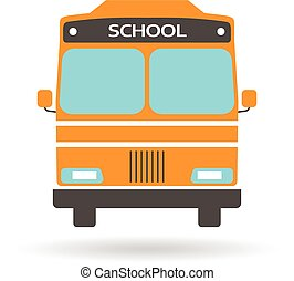 skole, grafik, bus, vektor, konstruktion, logo.