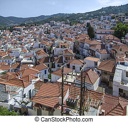 Skopelos at the Sporades island group in Greece