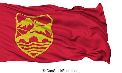 Skopje City Isolated Waving Flag