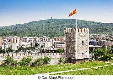 Kale Fortress - SKOPJE, MACEDONIA - MAY 30: Kale Fortress is...