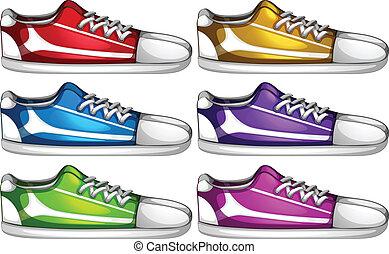 skor, uppsättningar