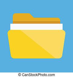 skoroszyt, wektor, dokumenty, ikona