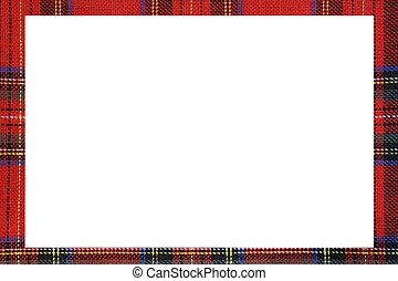 skotska språket, tartan, utrymme, skriva, mes, ram, röd, typ, vit