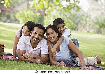 skovtur, har, familie