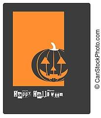 skrämmande, affisch, halloween, bakgrund, fest banér, eller, kort, pumpa