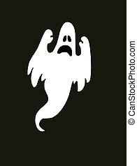 skrämmande, halloween, spöke