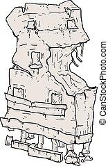 skräp, illustration