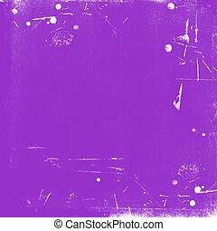 skrapet, årgång, bakgrund, violett