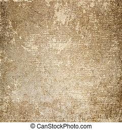 skrapet, bakgrund, papper, gammal
