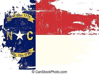 skrapet, flagga, norra carolina