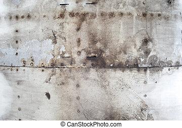 skrapet, gammal, metall, struktur