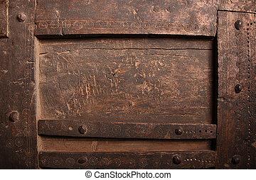 skrapet, gammal, trä, slitet, struktur, panel