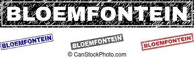 skrapet, grunge, bloemfontein, tätningar, stämpel, rektangel