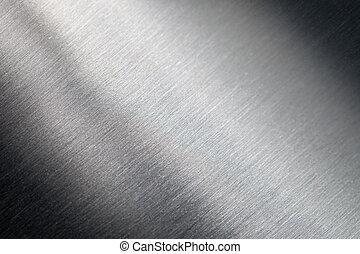 skrapet, metall, yta