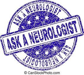skrapet, stämpel, försegla, neurologen, strukturerad, fråga