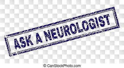 skrapet, stämpel, fråga, neurologen, rektangel