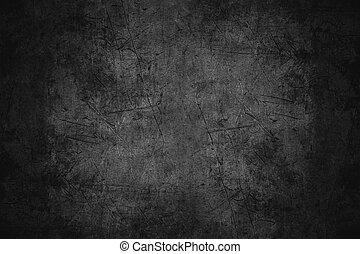 skrapet, svart, metall, struktur