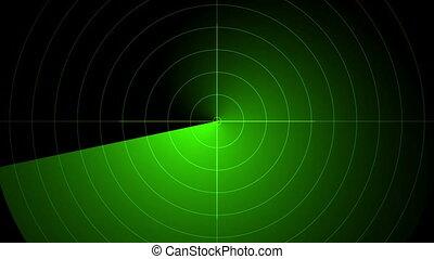 skren, radar, vert