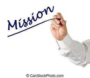 skrift, mission