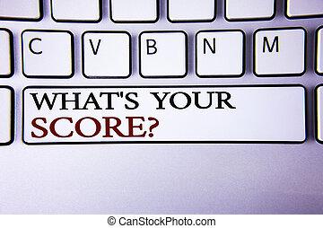 skrift, utsikt., utrymme, foto, berätta, anteckna, din, genomsnitt, resultat, visande, avskrift, vad, topp, personlig, showcasing, nyckel, individ, question., repa, vit, tangentbord, affär, tjalla, skriftligt