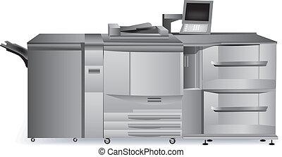 skrivare, digital