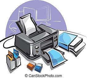 skrivare, inkjet
