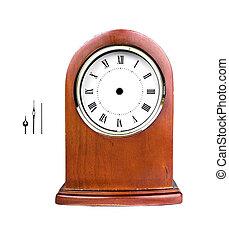 skrivbord, klocka