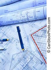 skrivbordsarbete, arkitektur