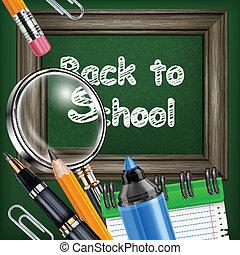 skrivpapper, blackboard, skola