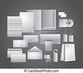 skrivpapper, mallar, gemensam formge