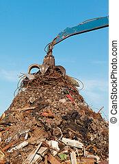 skrotupplag, återvinning, metall
