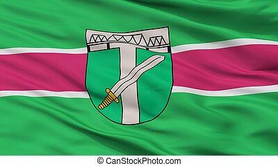 Skrunda City Flag, Latvia, Closeup View - Skrunda City Flag,...